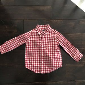 Janie and Jack Plaid Button Down